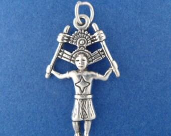 KACHINA DANCER Charm .925 Sterling Silver Native American Indian Pendant - sc008