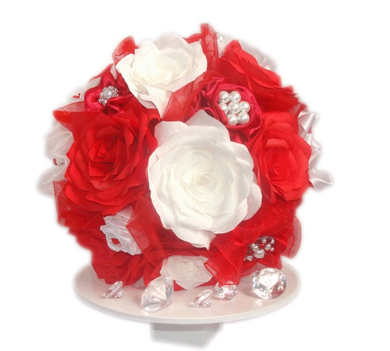 Christmas Wedding Bouquets And Flowers: Brooch Bouquet Red Holiday Bouquet Christmas Bridal By