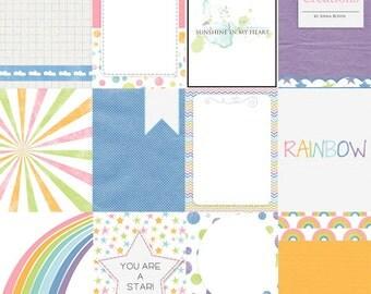 Over the Rainbow - digital 3x4 pocket cards