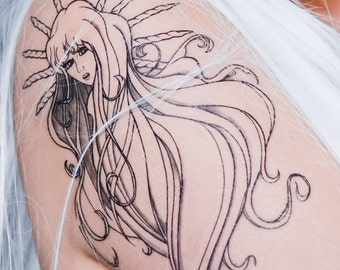 Lady Amalthea Temporary Tattoo