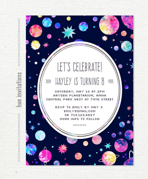il_570xN.662828056_6s3u space themed birthday party invitation girls space birthday,Space Birthday Party Invitations