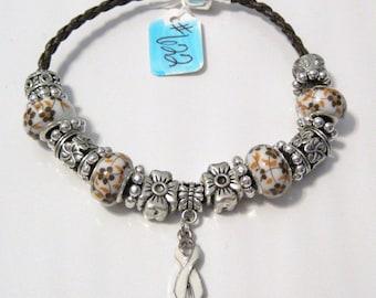 622 - CLEARANCE - White Awareness Bracelet