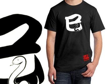 MI 巳 - SNAKE (1) - Snake T shirt - Men Black T-shirt - FREE shipping