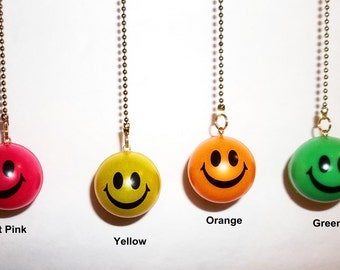 Smiley Faces Ceiling Fan or Light chain pull Handcrafted