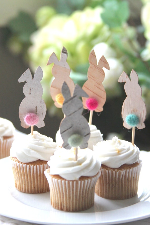 Easter party, Easter cake decoration, Easter bunny, Easter Decor, cake toppers, needle felted, food picks, cupcake toppers, Spring toppers