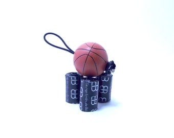 Basketball Potty Bag/Dog Mess Holder-Attach to leash, purse, bag or harness!