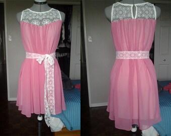 Custom Chiffon and Lace Flowy Summer Dress