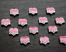 Mom Floating Charm for Floating Lockets-Pink Heart-Gift Idea for Women