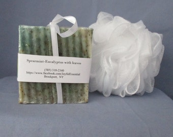 Spearmint Eucalyptus with Leaves Soap