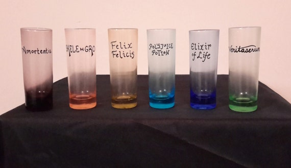 Harry Potter Potions Shot Glass Set Of 6 Shooters