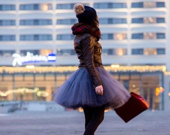 Ballerina Le Poof : hand dyed tulle skirt  / adult tutu / ladies tulle skirt / bridesmaid / custom dyed skirt  / wedding petticoat