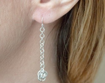 Silver droplet earrings | handmade jewelry for charity.