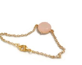 Pale Peach Connector Bracelet