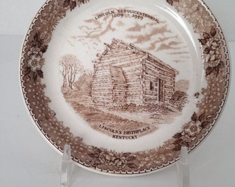 Adams China'Lincoln's Birthplace-Nancy Lincoln Inn'  Plate - VL Team