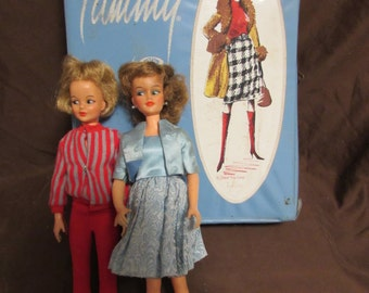 SALE! - Tammy Dolls, Set of Two, Ideal Toy Corp., Japan, Doll Case, 60 Plus Pieces Clothing and Accessories, 1965 - SALE!