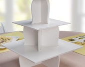 3 Tier Cupcake Stand - Candy Buffet Supplies for a Baby Shower, Birthday Party, Bridal Shower or Wedding