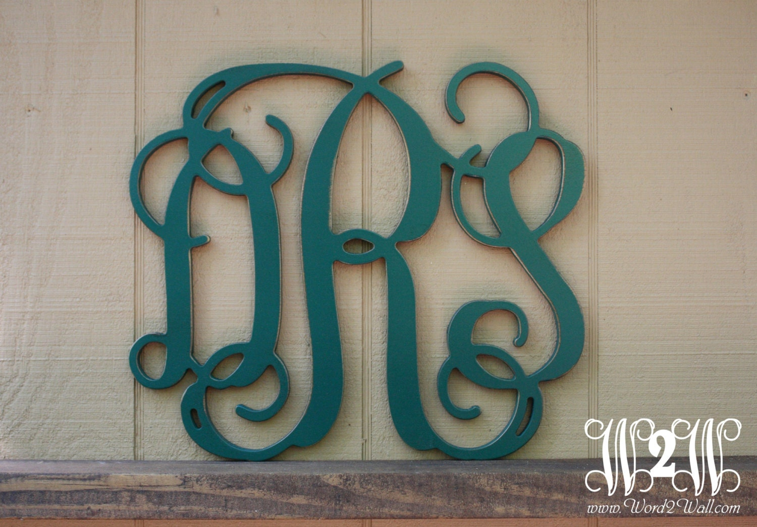 24 Inch Painted Personalized Monogram 3 Letter Sign By