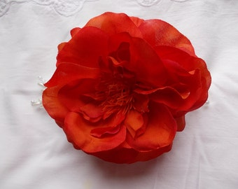 Orange Rose Hair Comb