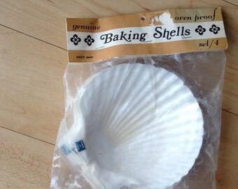 Vintage Baking Shells / Oven Proof