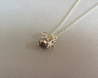 Cute flower charm necklace