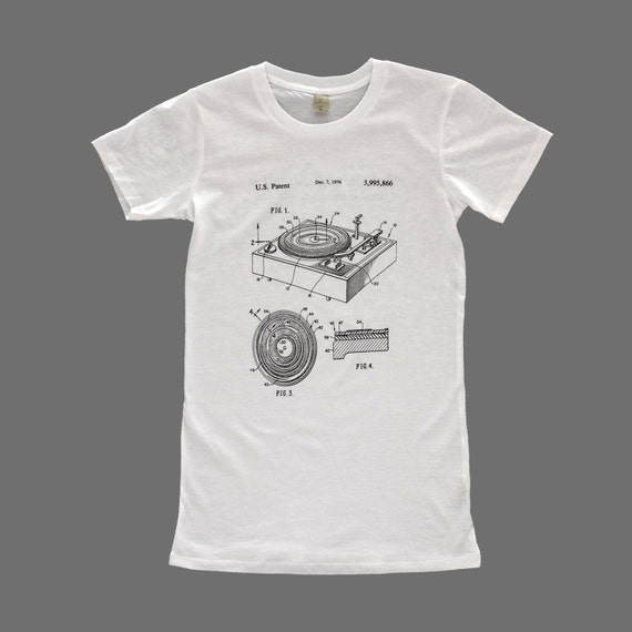 Women 39 s patent drawing t shirt screen printed t shirt for How to patent a t shirt