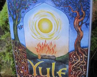 Pack of 4 Yule / Winter Solstice Cards