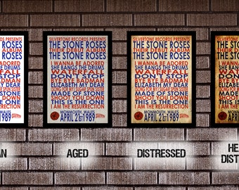 THE STONE ROSES by The Stone Roses typographic album print