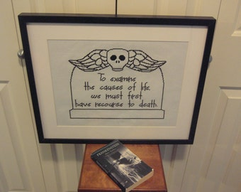 Gothic Cross Stitch Pattern Frankenstein Quote Instant Download Gothic Novel Mary Shelley
