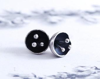 FLOWERS - silver earrings