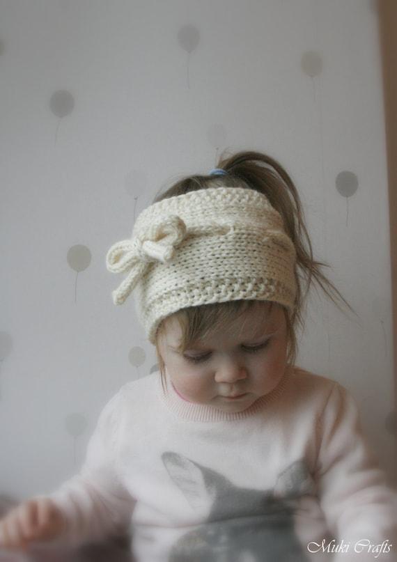 KNITTING PATTERN simple headband Lisa (newborn, baby, child, adult sizes)
