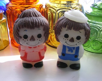 Vintage Raggedy Ann and Andy Candles