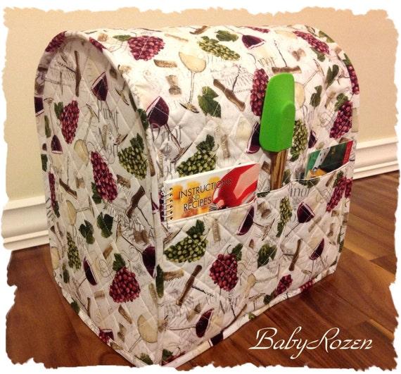 Babyrozencustom Quilted Kitchenaid Mixer Cover Wine Themed