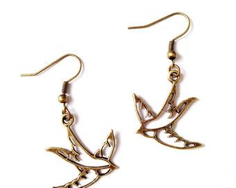 """Earrings """"Swallows"""""""