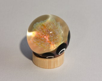 Yellow Flower Implosion Marble