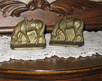 Horses vintage bookends
