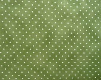 Green Dot Fabric, Green Quilt Fabric, 609G2 Maywood Basically Beautiful, Moss Green Dot Fabric, Christmas Fabric, Green Fabric, Cotton