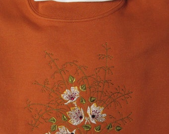 embroidered sweatshirt with swarovski crystals