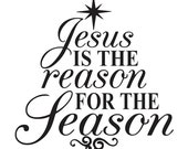 Oaklandstencil on etsy for Jesus is the reason for the season coloring pages
