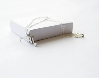 State Necklace! State of Maryland Necklace! Sterling silver chain