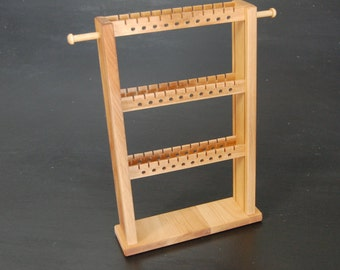 Handmade Wooden Earring and Jewelry Rack - Jewelry Organization - Earring Holder Made from Hardwood - Jewlery Storage
