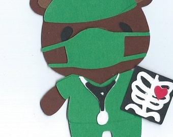 Teddy Bear Doctor Die Cut