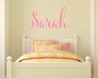 Name Wall Decal. Girls Name Wall Decal. Nursery Wall Decal. Monogram Decal.