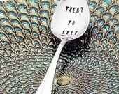 Parks and Recreation Treat Yo Self - Stainless Steel Stamped Spoon (coffee spoon, tea spoon) - Pop Culture Gifts for Fans - Treat Myself