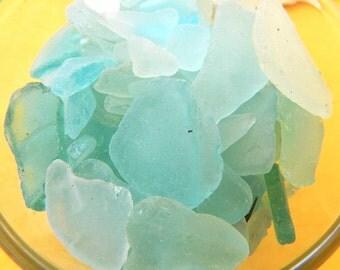 Maine Sea Glass - Turquoise & Aqua - 2 oz. - DIY Crafts, Maine Beach Glass -Sea Glass Wapping - Jewelry