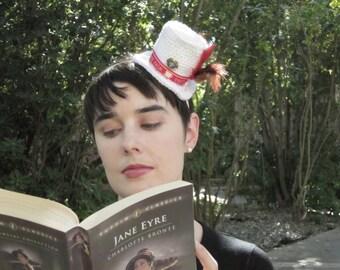 Keep Calm, Carry On Miniature Top Hat Fascinator