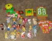 Large Lot Vintage Strawberry Shortcake Dolls & Accessories