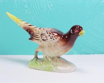Vintage Ceramic Pheasant Figurine Made in Japan