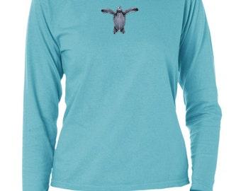 Ladies garment dyed Sea Turtle long sleeve t-shirt