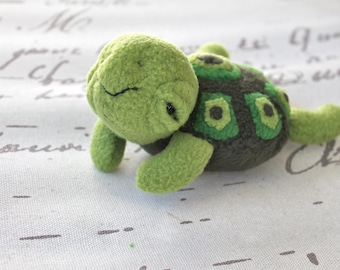 Toy Turtle - Handmade Toy Turtle- Tati Turtle-Stuffed Animal- Baby Turtle