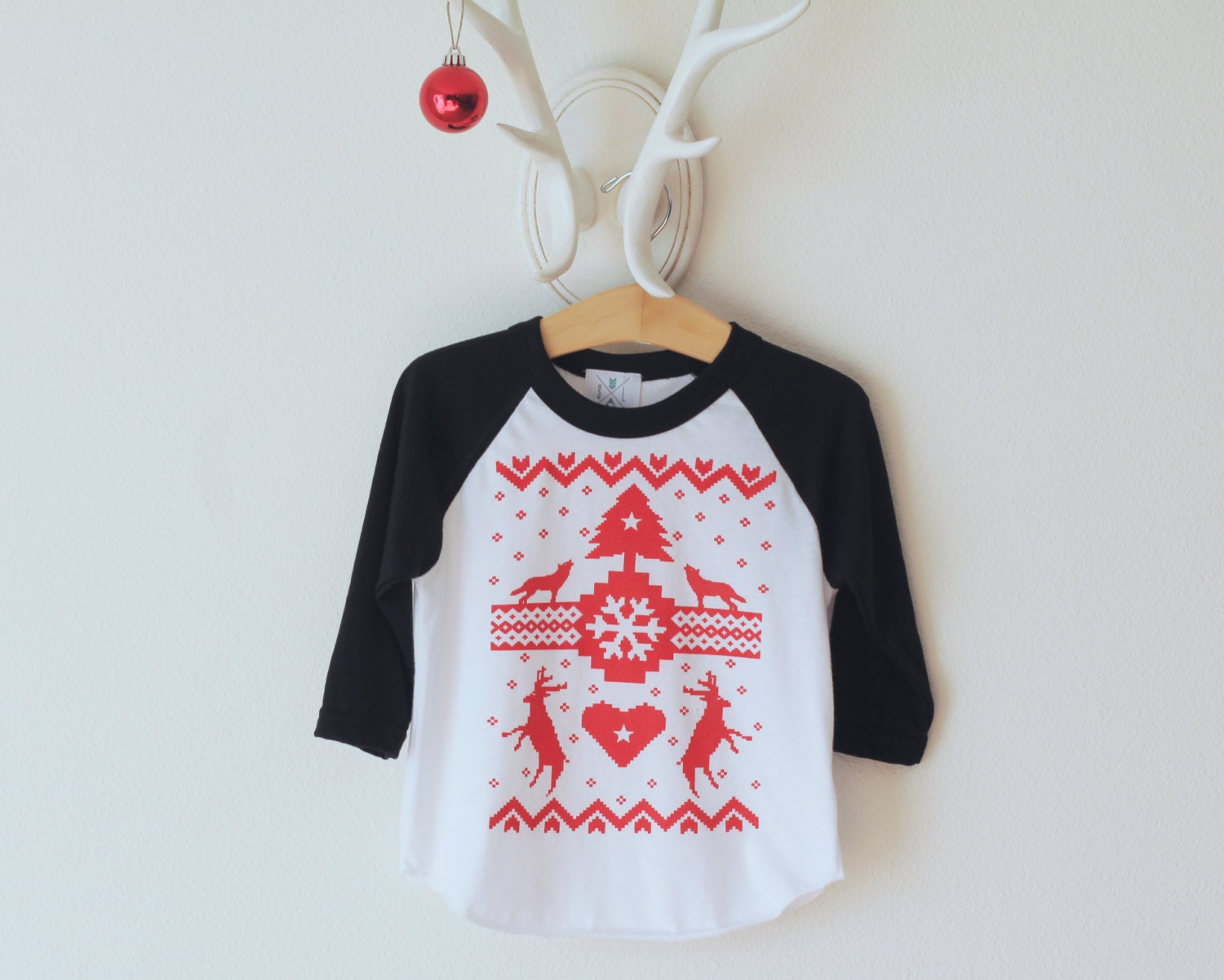 The holiday ugly sweater tee child shirt toddler by sandilake for Holiday t shirt bags